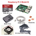 Raspberry Pi 3 Model B Starter Kit with 5V 2.5A EU/UK/US/AU Power Supply + 16GB SD Card + Copper Heatsinks + HDMI Cable