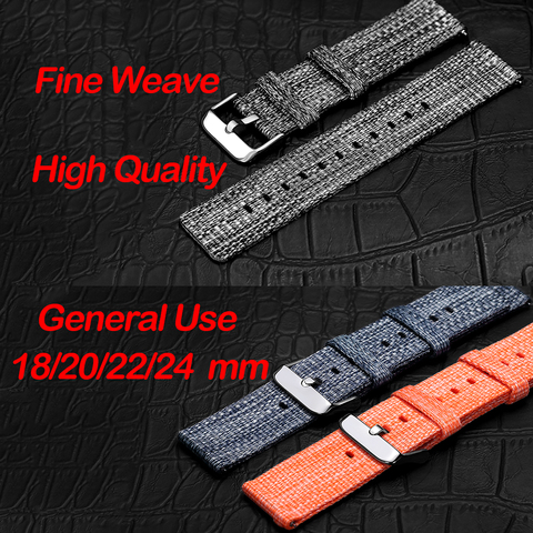 18/20/22/24 mm Width Quick Release Watch Band General Common Use Fine Woven nylon Watch Bands Strap Islamabad