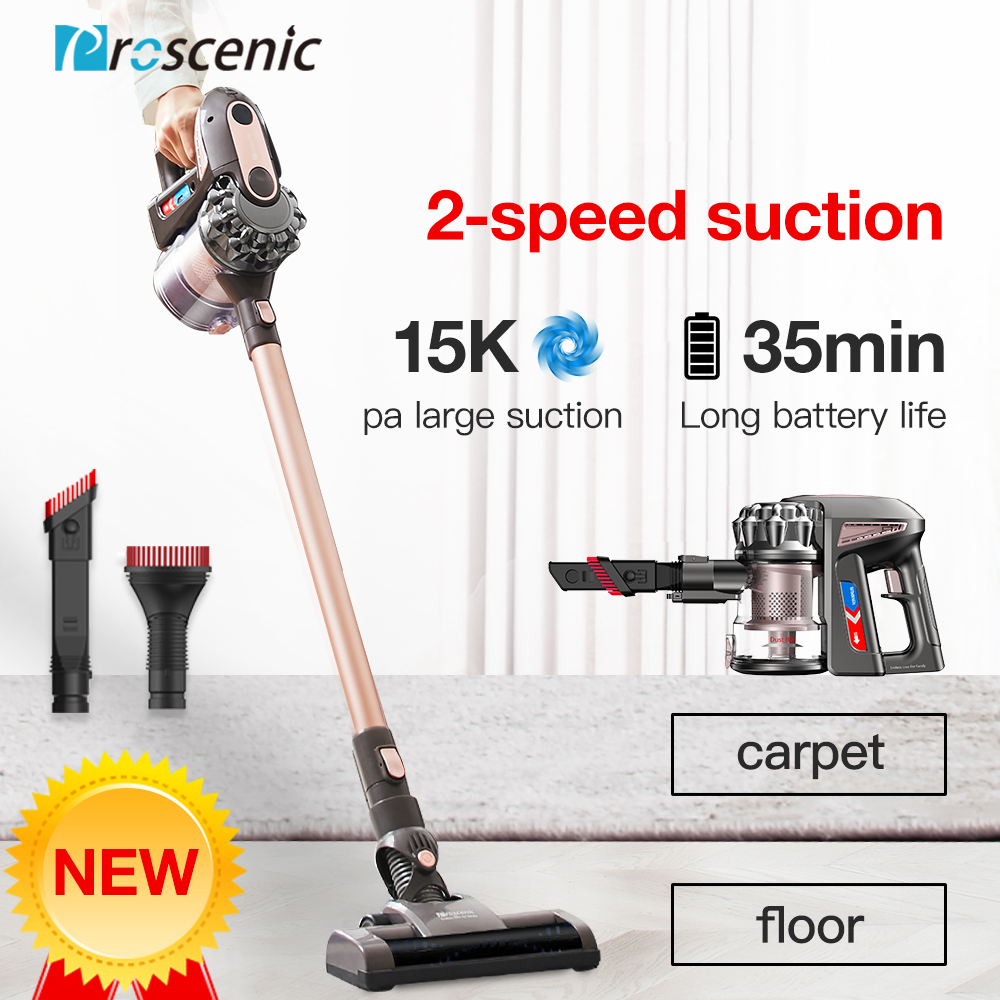 Proscenic p8 Plus Cordless Vacuum Cleaner 15000 Pa Powerful Suction Bagless Handheld Vacuum Cleaner