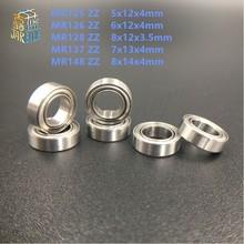 10 шт. MR125 2Z MR126 2Z MR128 ZZ MR137 ZZ MR148 ZZ мини подшипник 5x12x4 6x12x 4, 8 x12x3.5 7x13x 4, 8 x14x4mm