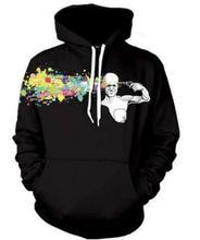 Abstrakte Headshot Hoodie Mode 3D Hoodies Männer/Frauen Harajuku Sweatshirt Casual Punk Pullover Hoody Größe