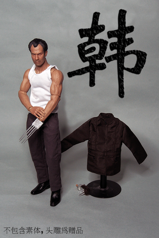 Hot 1/6 Scale Shih Kien Clothing With Head Bruce Lee Opponent Mr. Han Shi Jian Hong Kong Actor Figure Accessories 1 6 scale the game of death bruce lee head sculpt