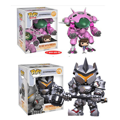 Funko POP OW Game OverWatche D VA with MEKA Reinhardt Vinyl Action Toy Figures Collectible Model