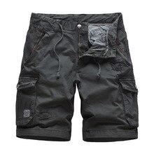 Cotton Mens Cargo Shorts Fashion Male Outdoor Shorts Multi-Pocket Casual Camo Outdoors Tolling Homme Short Pants multi pocket camo drawstring hem cargo shorts