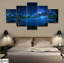 5 Pieces Final Fantasy XIV Game Poster Modern Wall Art Decorative Modular Framework Picture Canvas HD Printed One Set Painting(China)