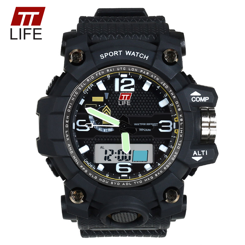 TTLIFE font b Men b font Business Casual Sport Digital font b Watch b font Anti