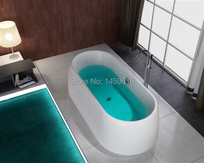 все цены на 71' Circular Fiberglass With Resin Freestanding Seamless Joint Bathtub Acrylic With ABS Composite Soaking Bath W6020 онлайн