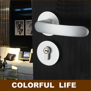 Export quality, high-grade,Flat handles Split  locks sets for Wooden doors,Space aluminum ,Bearing Mute lock,Hardware