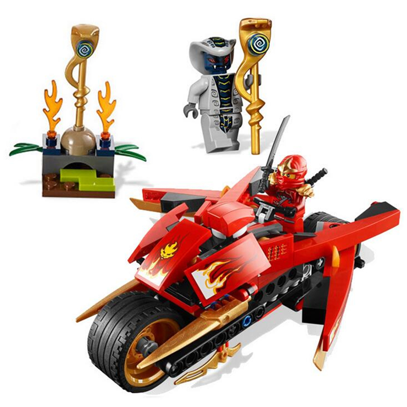 LELE BELA 18Phantom Lepin Kai Blade Cycl Motorcycle Building Blocks Action Figure Toys For Children