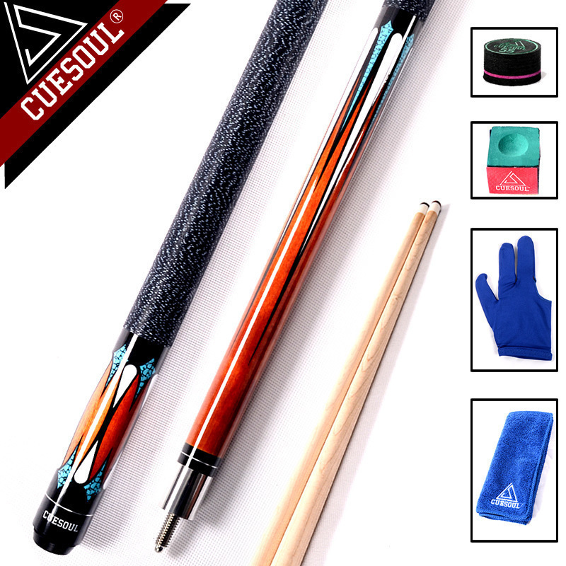 CUESOUL 58 Professional 1 2 Jointed Billiard Pool Cues Stick 11 5mm 12 75mm Tip 147cm