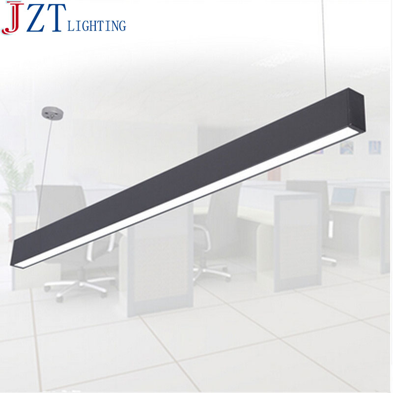 M 118cm office led aluminum rectangular ceiling light modern m 118cm office led aluminum rectangular ceiling light modern silver led chandelier lamp fixture for dining room restauran office in pendant lights from mozeypictures Gallery