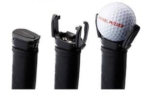 Image 1 - 送料無料黒いプラスチックパターグラバーミニゴルフボールパターグリップレトリーバーミニゴルフボールピッカー