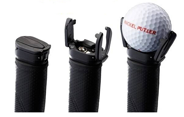 送料無料黒いプラスチックパターグラバーミニゴルフボールパターグリップレトリーバーミニゴルフボールピッカー