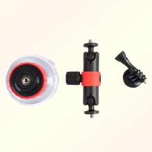 360 degree Rotation Sucker Base Clip Clamp Mount for GoPro for YI for SJCMA Sports Camera