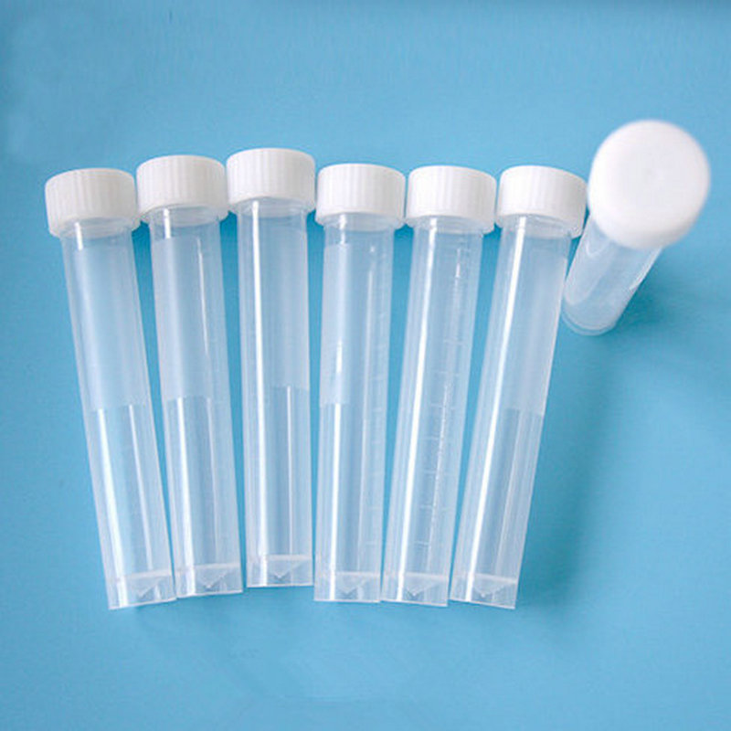 10ML Graduated 100/200/300/500/1000PCS Plastic Cryovial Test Tube Cryo Freezing Tube With Screw Cap 20ml fermentation tube with graduated on glass foot