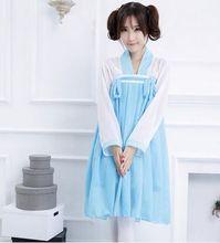 Azul maid disfraces para mujeres anime traje japonés de cosplay del anime del traje de disfraces de halloween vestido de carnaval