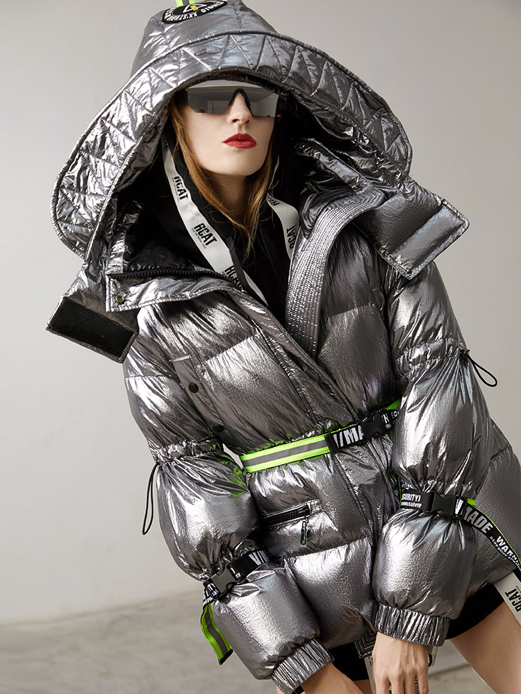 2018 зимняя куртка для женщин пуховики и парки для мужчин короткие белая утка подпушка металлик street feel, верхняя одежда оверсайз парка с ш