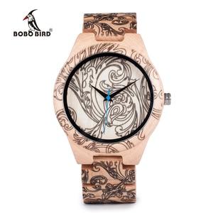 Image 3 - BOBO BIRD WO07 montres à Quartz en bois de pin pour hommes montre de tatouage dimpression UV dans une boîte en bois avec outil pour ajuster la taille livraison directe