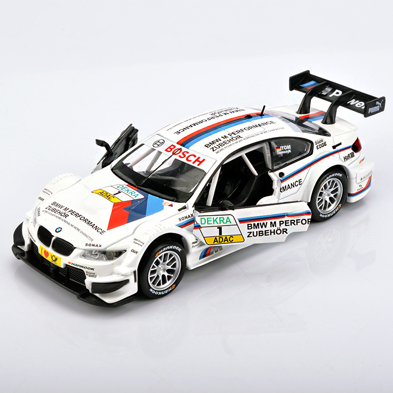 1:32 Diecast Alloy <font><b>Car</b></font> Model <font><b>Toys</b></font> For Bmw M3 With Pull Back Function <font><b>Electronic</b></font> <font><b>Toy</b></font> With Simulation Light And Music For Kid Gift image