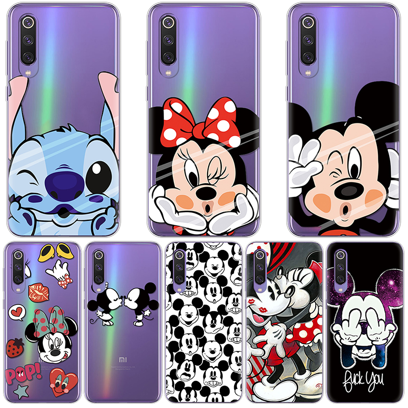 Cartoon Couple Phone Cases For Coque <font><b>Xiaomi</b></font> Mi <font><b>9</b></font> Clear Cute Couple Gift Soft Silicone TPU Back <font><b>Cover</b></font> For <font><b>Xiaomi</b></font> Mi9 SE Case Capa image