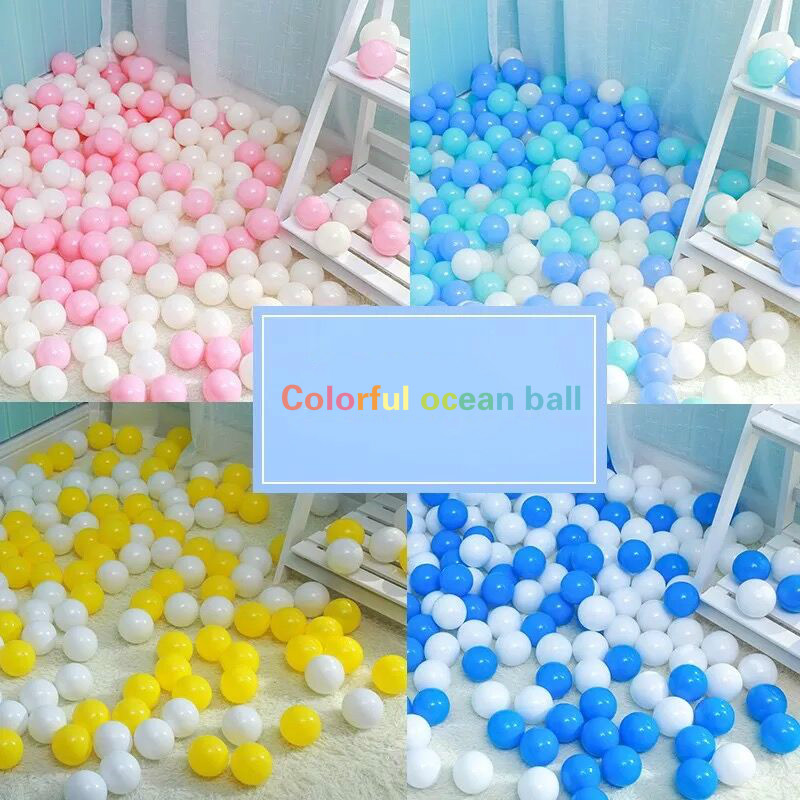 100 stücke 5,5 cm Ozean Ball Anti Stress Weichen Ball für die Pool Ball Gruben Wasser Pool Bälle Baby Lustige spielzeug Outdoor Sport Spielzeug