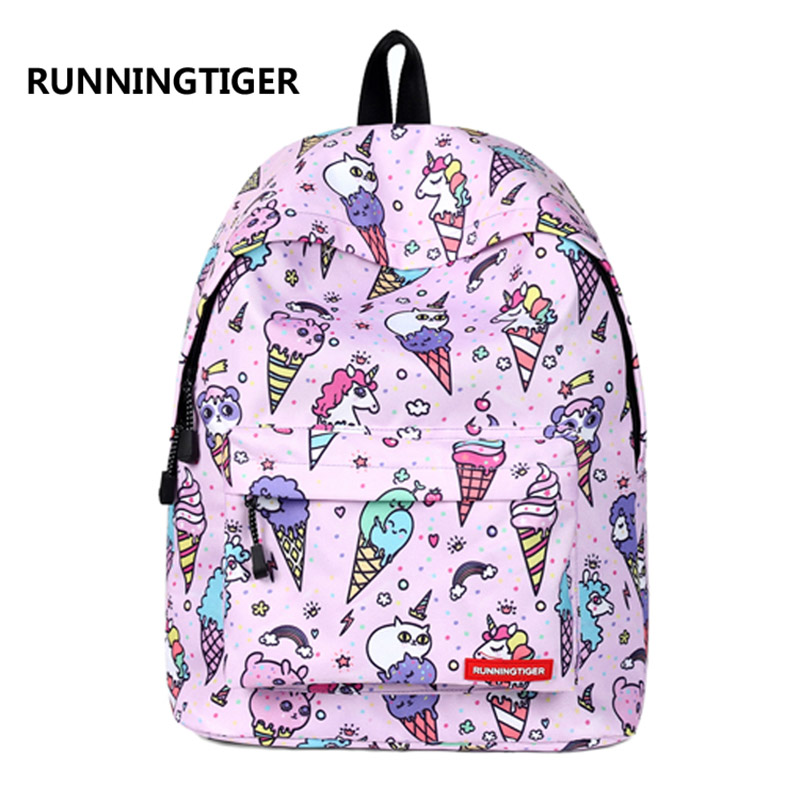 Luggage & Bags Runningtiger Pink Eiffel Tower Print Backpack Women Casual Rucksack Canvas School Backpack For Teenage Girls Mochila Escolar Backpacks