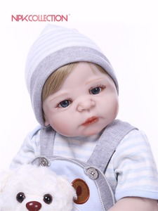 Image 4 - NPK אמיתי 57 CM מלא גוף סיליקון ילד Reborn תינוקות דוב בובת צעצועי נסיכת תינוקות בובת פאת שיער יום הולדת מתנה ילדי Brinquedos