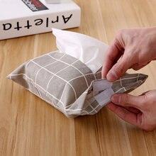 1 шт. хлопок и коробка из льняной ткани держатель для салфеток домашний декор коробки путешествия автомобиль портативный мешок бумажная ткань мешок полотенца бумага висячие