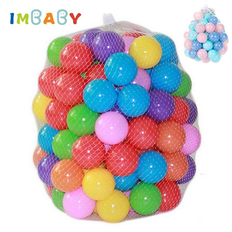 100/200pcs 5.5/7cm Balls Pool Balls Soft Plastic Ocean Ball For Playpen Colorful Soft Stress Air Juggling balls Sensory Baby Toy(China)
