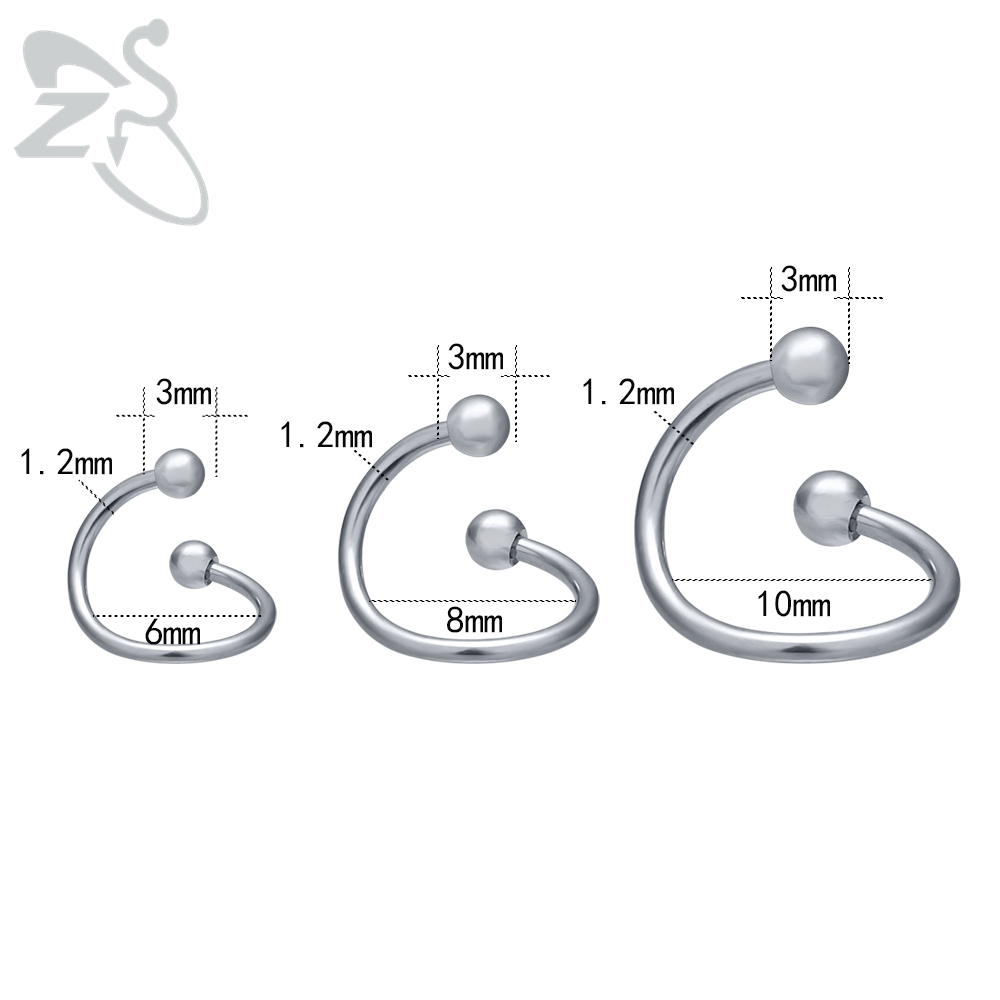 Women 39 s Nose Ring Stainless Steel Septum Cartilage Labret Piercings Tragus Helix Eyebrow Piercing Snag Earring Body Sexy Jewelry in Body Jewelry from Jewelry amp Accessories