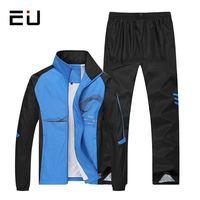 EU Men Sport Suits Plus Size Running Sets Men Basketball Jogging Fitness Training Suits Running Sport