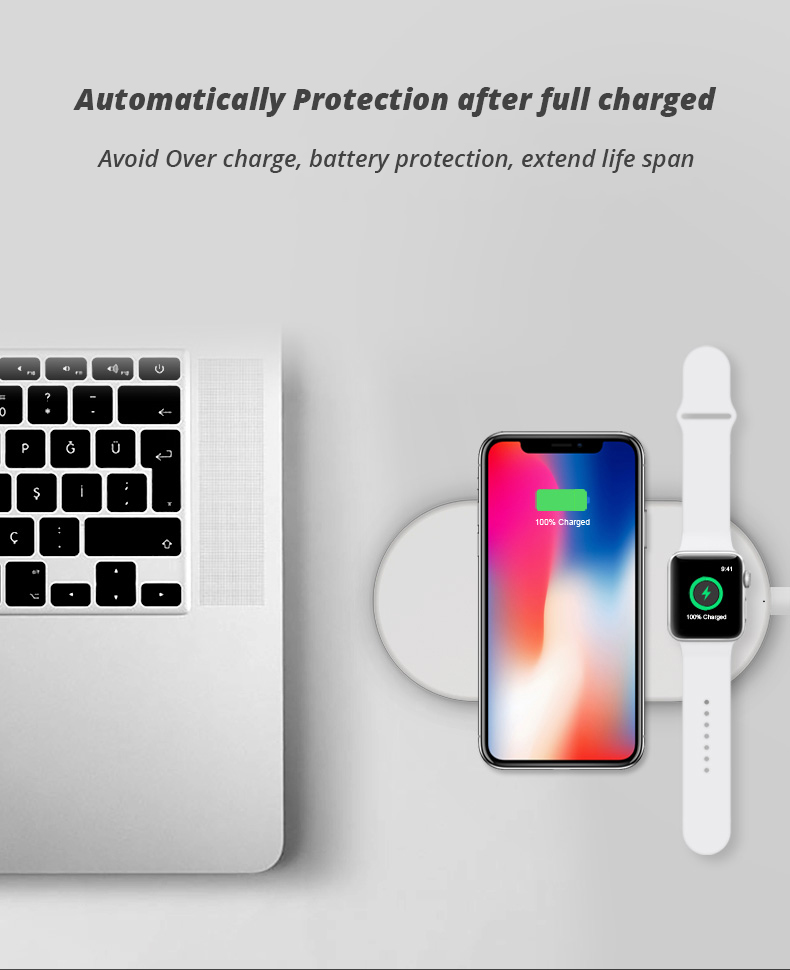2 in 1 Wireless Charge Pad For Iphone X Iphone 8 Samsung S9 Samsung S8 DIY Disassemble Apple Watch wireless Charge Pads (12)