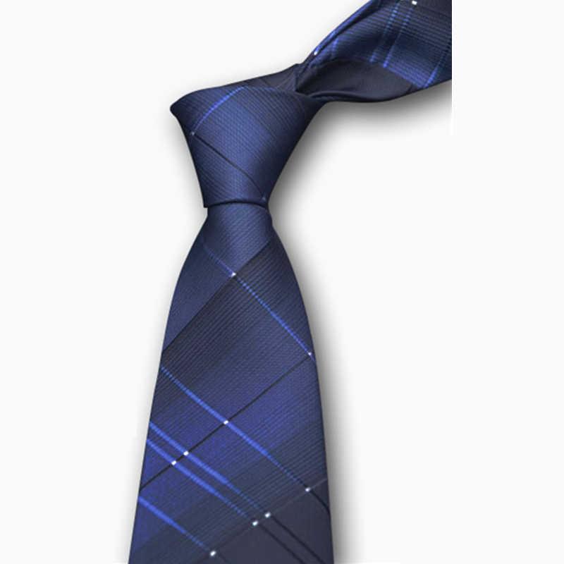 Legami dei Mens 2017 di Business Formale Vestito Da Sposa Classico A Righe Cravatte Plaid Hombre 8 CM Gravata Cravatte Per Gli Uomini