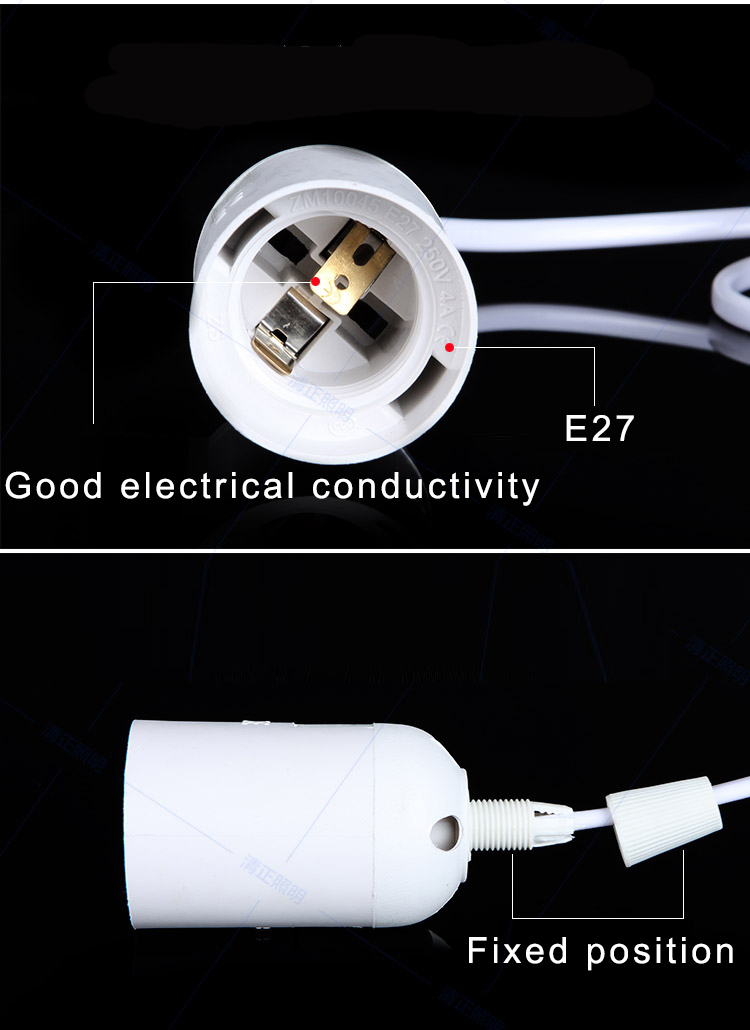 SAVE Plug and play E27 holder for E27 socket E27 base bulb led light lamp switch to control E27 Power Cord Europe Russia Plug in Lamp Bases from Lights Lighting