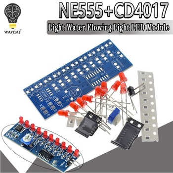 Smart Electronics Kits NE555+CD4017 Light Water Flowing LED Module DIY Kit Learn electronic principles, children's lab - sale item Active Components