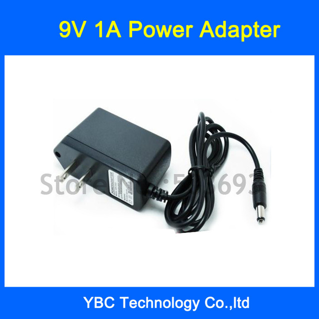 Free Shipping 10pcs/lot AC/DC Power Adapter 9V 1A  EU US UK Plug Adaptor