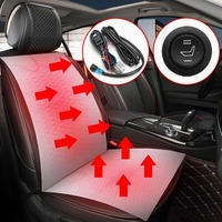 2pcs 1 Seat12V Carbon Fiber Universal Heated Seat Heater Pads Car High Low Round Switch Heater
