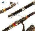 2015 nueva telescópica caña de pescar de carbono 2.1 / 2.4 / 2.7 / 3.0 / 3.6 M fibra de carbono Carbon Spinning mar Rod Fishing Tackle herramientas 50