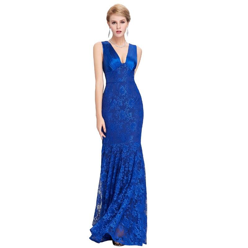 Green Royal Blue Black Lace Long Prom Dresses 2018 Ballkleider Lang ...