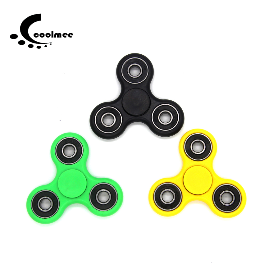 Fidget Spinner , Finger ABS Candy Colorful Hand Spinner Tri For Kids Autism Anxiety Stress Relief Toys Gift