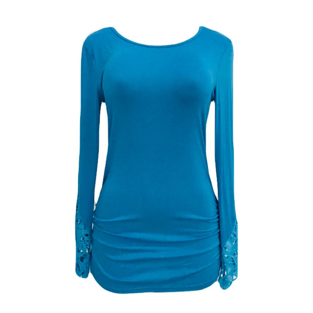 Female T- Shirt Women T shirt Casual Tee Tops Solid Tees Elastic Mesh Top Women Autumn Long Sleeve Loose Fit Slim Shirts