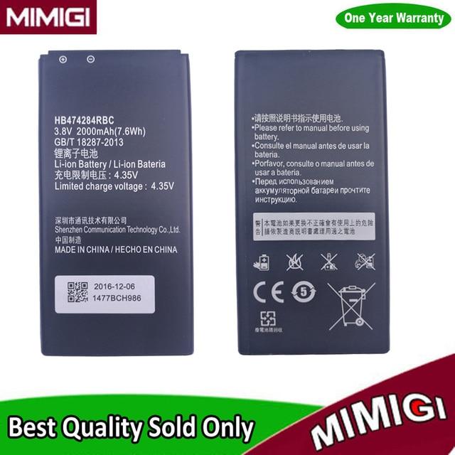 US $5 99 |JESSQUE 2000mAh HB474284RBC battery For Huawei y550 y560 y625  y635 g521 g620 y5 C8816 Hol T00/U10/T10 honor 3C lite phone ACCU-in Mobile