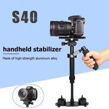 S40 alüminyum alaşım el DSLR sabitleyici taşınabilir Anti shake telefon tutucu yuvası kamera sabitleyici fotoğraf DSLR aksesuarları