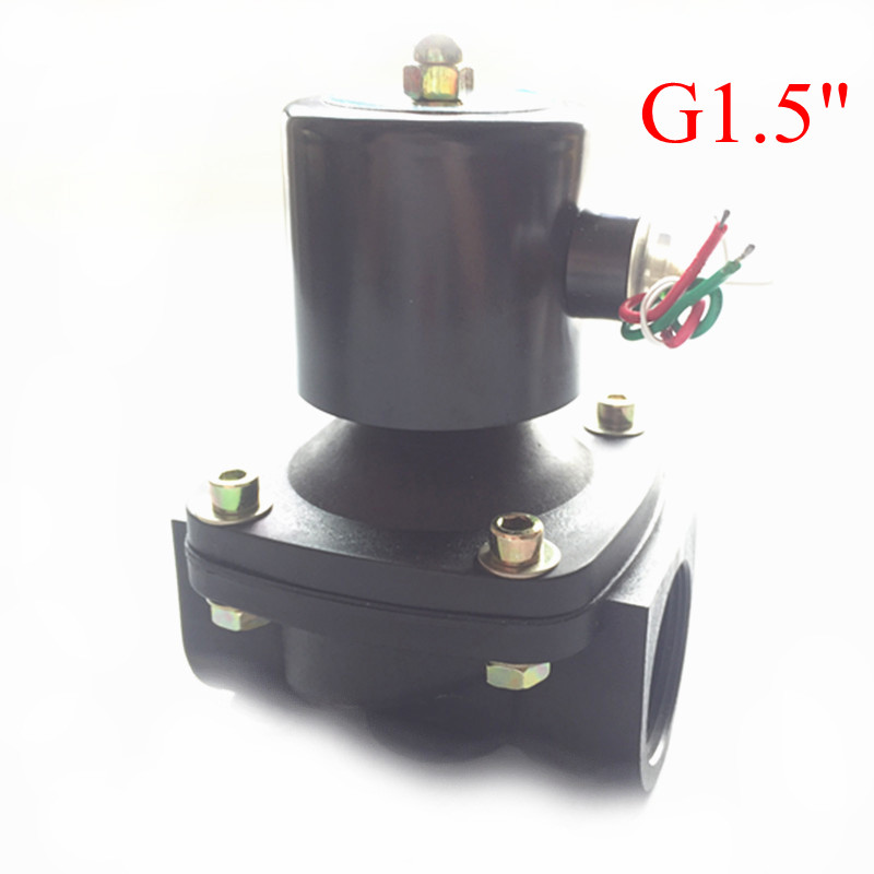 Free Shipping 1.5 Solenoid valve water valve N/C 2 way Air Oil gas 2W400-40 AC220V electromagnetic valve