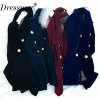Высокое качество Весна одежда Для женщин модные бархатные Блейзер элегантные женские офисные куртка с длинным рукавом костюм