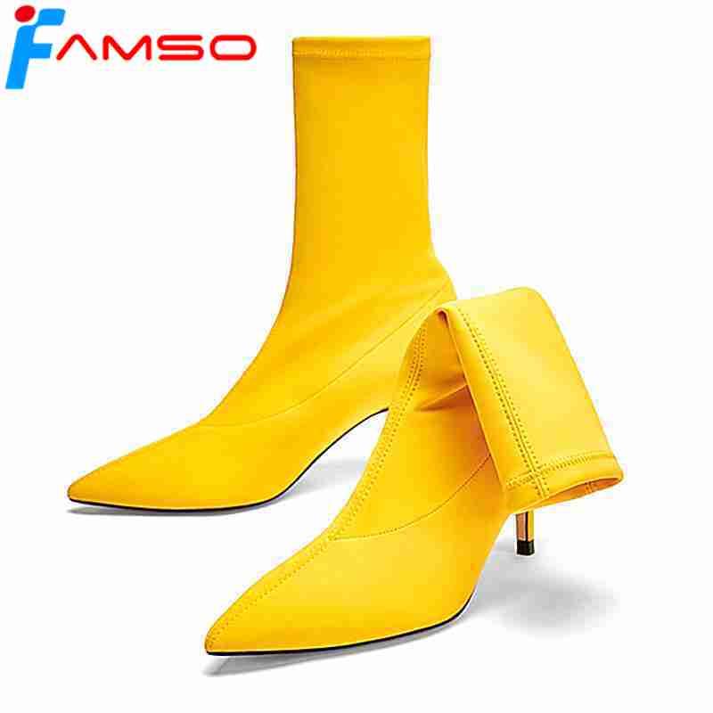Rouge D'équitation Automne red Black Femmes Noir Printemps Famso Talons De Classiques Jaune D'hiver Bal Size34 Chaussures 2019 Hauts 43 yellow Bottes b6g7fYy