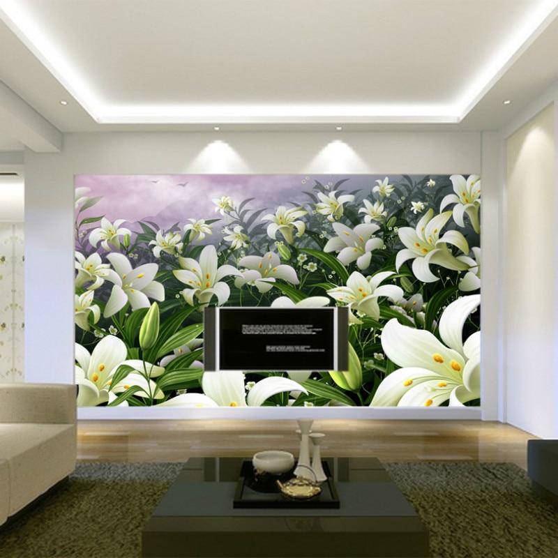 breve moderno lirio foto wallpaper fondo pared de la cocina papel pintado floral papel de pared