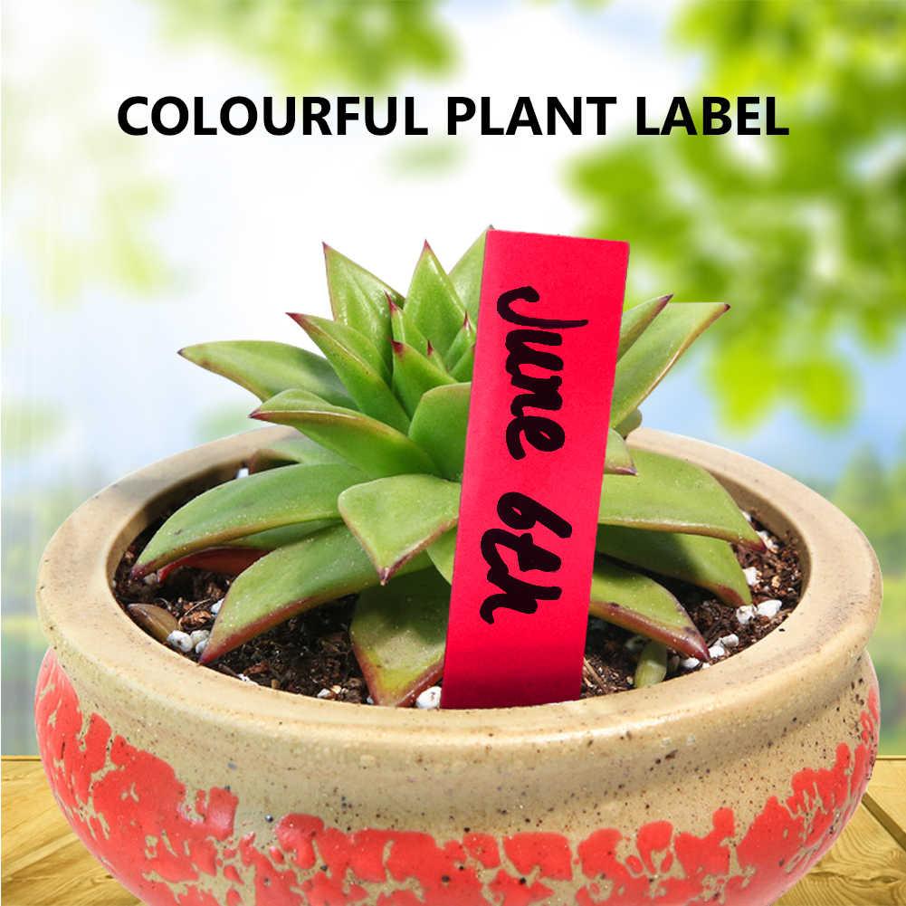 50/300 100 шт.. пластик много цветов кол-тип детского сада растения этикетки цветочный горшок толстые маркер метки для растений садовые украшения