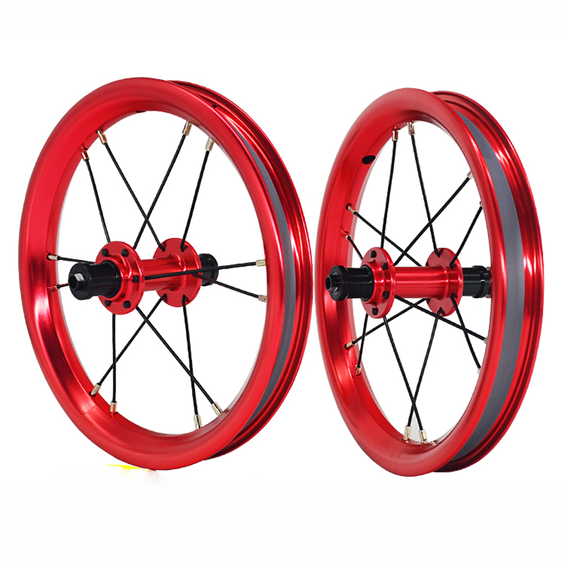 12 inches 84 95mm Kids 39 Walker Bike Wheelset Alloy Anodized 4 Colors Balance Bicycle Wheel Set in Bicycle Wheel from Sports amp Entertainment