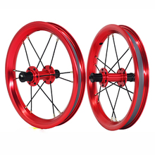 12 inches 84/95mm Kids Walker Bike Wheelset Alloy Anodized 4 Colors Balance Bicycle Wheel Set